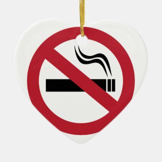 Ornement Cœur En Céramique Non-fumeurs