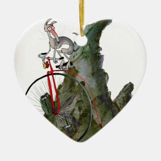 Ornement Cœur En Céramique nous aimons la course inclinée de whippet de