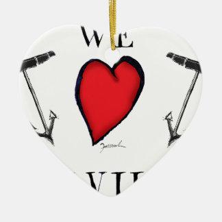 Ornement Cœur En Céramique nous aimons le melville