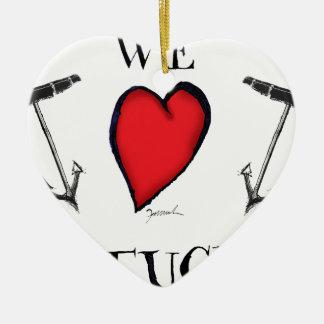 Ornement Cœur En Céramique nous aimons le nantucket