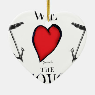 Ornement Cœur En Céramique nous aimons le pequod