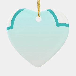 Ornement Cœur En Céramique Nuage de flottement