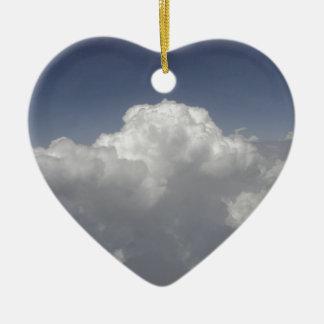 Ornement Cœur En Céramique Nuages à 30.000 pieds d'une fenêtre d'avion