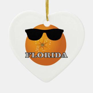 Ornement Cœur En Céramique nuances de la Floride