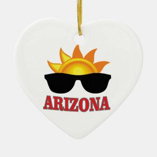 Ornement Cœur En Céramique nuances de l'Arizona ouais