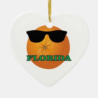 Ornement Cœur En Céramique nuances vertes de la Floride