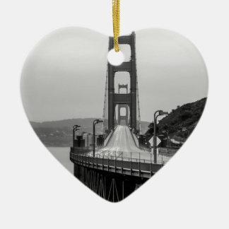 Ornement Cœur En Céramique Obscurité unique de vue de San Francisco golden
