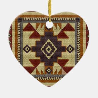 Ornement Cœur En Céramique Occidental tissé