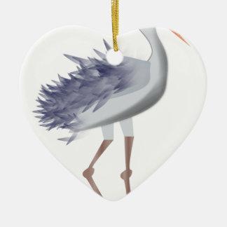 Ornement Cœur En Céramique Oiseau grand