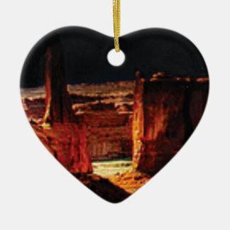 Ornement Cœur En Céramique ombres en pierre foncées en Utah