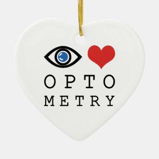 Ornement Cœur En Céramique Optométrie de coeur d'amour d'oeil - diagramme