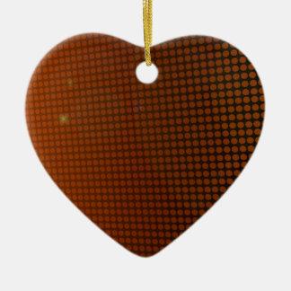 Ornement Cœur En Céramique orange halo