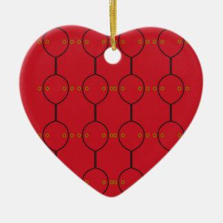 Ornement Cœur En Céramique Ornemente le rouge noir vintage