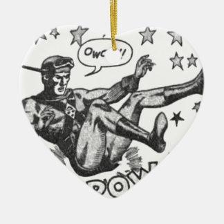 Ornement Cœur En Céramique Owch ! Prisonnier de guerre de ka !