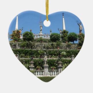 Ornement Cœur En Céramique Palais de Borromeo dans Stresa, Italie