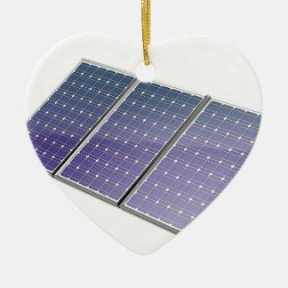 Ornement Cœur En Céramique Panneaux solaires