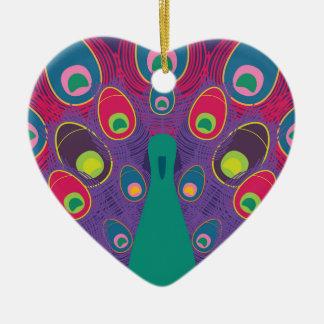 Ornement Cœur En Céramique paon #2