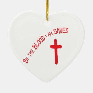 Ornement Cœur En Céramique Par le sang