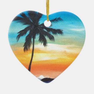 Ornement Cœur En Céramique Paradis par KatGibsonArt