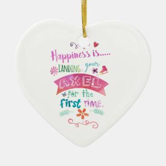 Ornement Cœur En Céramique Patin fait sur commande de bonheur d'objets à