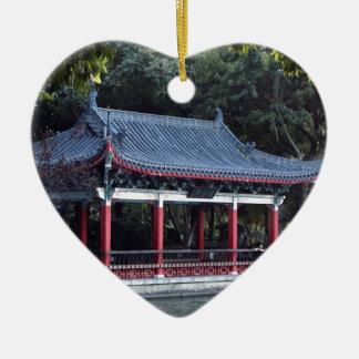 Ornement Cœur En Céramique Pavillon, lac Ronghu, Guilin, Chine