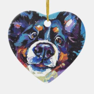 Ornement Cœur En Céramique Peinture d'art de bruit de chien de montagne de