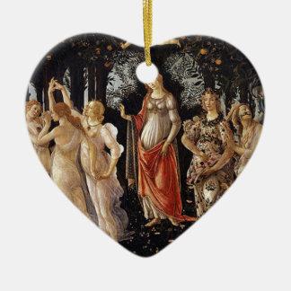 Ornement Cœur En Céramique Peinture de Botticelli Primavera
