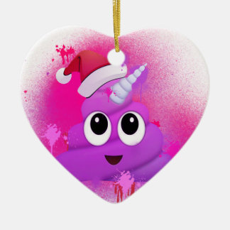 Ornement Cœur En Céramique Peinture de jet de Père Noël Emoji de dunette de