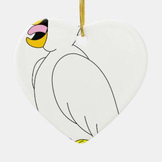 Ornement Cœur En Céramique perroquet #3
