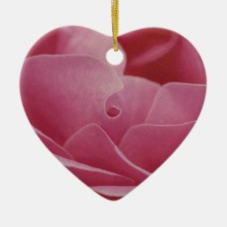 Ornement Cœur En Céramique Pétales de rose