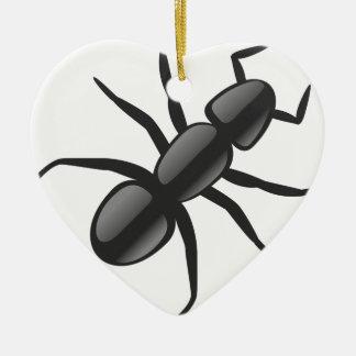 Ornement Cœur En Céramique Petite fourmi