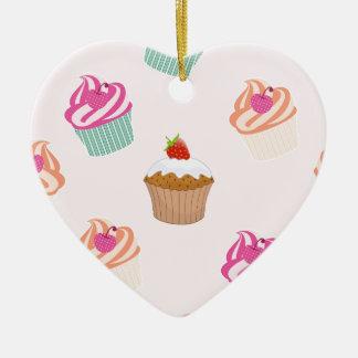 Ornement Cœur En Céramique Petits gâteaux et petits pains