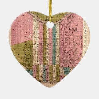 Ornement Cœur En Céramique Philadelphie 1838