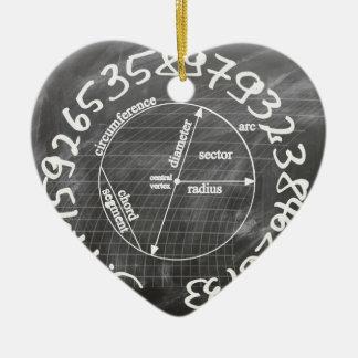 Ornement Cœur En Céramique pi