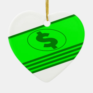 Ornement Cœur En Céramique Piles d'argent liquide
