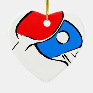 Ornement Cœur En Céramique Ping-pong