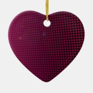 Ornement Cœur En Céramique pink halo