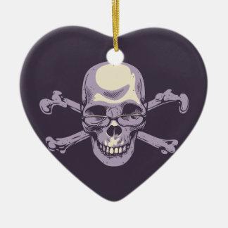 Ornement Cœur En Céramique Pirate ringard