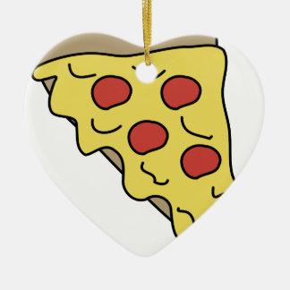 Ornement Cœur En Céramique Pizza d'égoutture