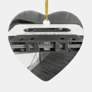 Ornement Cœur En Céramique Plan rapproché de bande magnétique de cassette