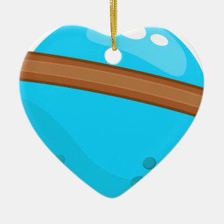 Ornement Cœur En Céramique Planète bleue