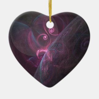 Ornement Cœur En Céramique Planètes fractal