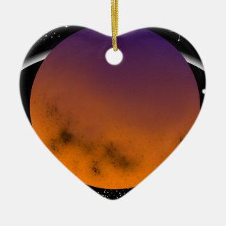 Ornement Cœur En Céramique planets