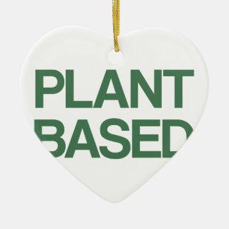Ornement Cœur En Céramique Plante basé
