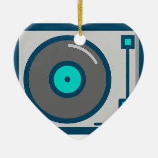 Ornement Cœur En Céramique Plaque tournante du DJ