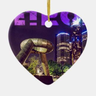 Ornement Cœur En Céramique Plaza de cerf de Detroit