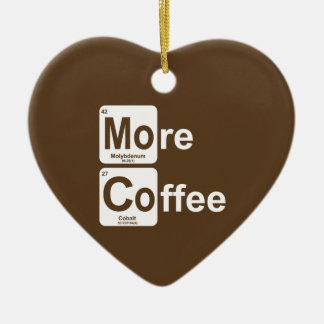Ornement Cœur En Céramique Plus de Tableau périodique de café