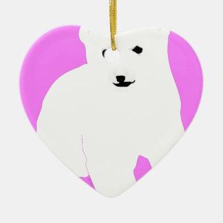 Ornement Cœur En Céramique PolarBearCubPinkSF