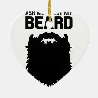 Ornement Cœur En Céramique Posez des questions sur ma barbe