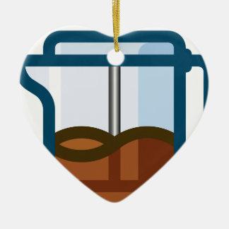 Ornement Cœur En Céramique Pot de café